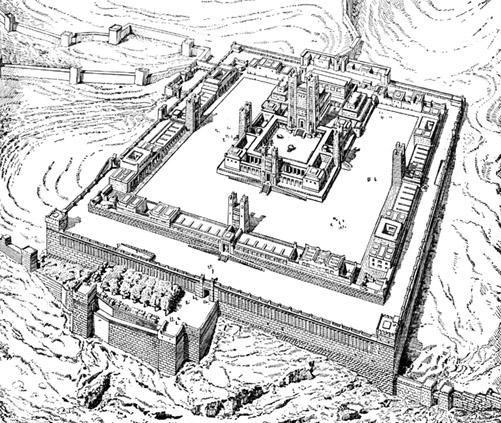 Second Jerusalem Temple Diagram